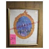 Framed 25th Anniversary Walt Disney World poster