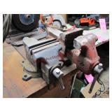 """Craftsman 3 3/4"""" vise (MOUNTED - BRING TOOLS) &"""