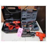 5 pcs set w/ Ryobi cordless drill & flashlight