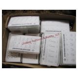 Flat w/ 10 plastic assortment bins w/ contents