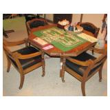 Game table 4 rolling chairs, games & other