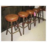 """5 bar stools w/ swivel padded seats 31"""" tall"""