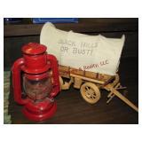 Small lantern & covered wagon