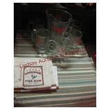 Coors beer pitcher w/ 5 glasses