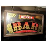 3 signs: Bar sign, Ladies sign & Gents sign