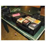 7 pcs vintage electronics: turn table, cd changer,