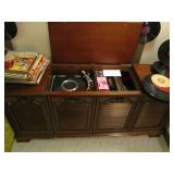 Sears console cabinet stereo, am/fm, phonograph