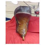 Brass Eagle head horn saddle - no stirrups,