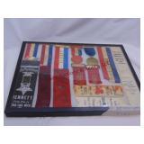 16.25x12.25 display case w/ Michigan war ribbons