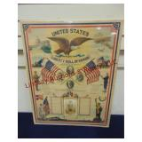 21x26.5 poster United States Roll of Honor w/