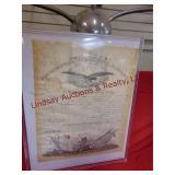 16.75x20.75 Paperwork on Captain William H. Warner