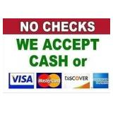 Payment Methods: Currency Pay, Cash, Credit Cards