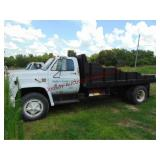 1988 Chevy C65 S.A. flat bed dump 16ft bed, ...