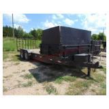 Custom built 22ft T.A. flat bed/dump trailer...