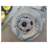 3 dually wheels w/ 2 tires: 1 is Hankook Dynapro