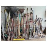 Large group of 53+ lawn/yard tools: various size/
