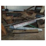 Small group mixed scrap iron: tubing, rail & other