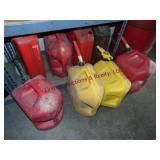 8 - gas / diesel cans ( 3 are metal)