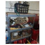 Shelf & contents: ( NO FUEL CANS) 36x18x62...