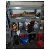 Shelf & contents: gaskets, oil, antifreeze,