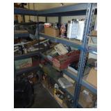 Shelf w/ contents: sandoff liquid, control box,
