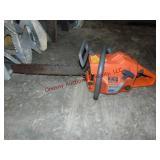 Husqvarna 55 chainsaw w/ case (untested) motor