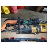 DeWalt reciprocating saw, Hitachi angle grinder &