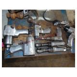 """8 pcs pneumatic air tools: 3 - 1/2"""" drive impacts,"""