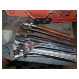 8 adj wrenches (various brands)