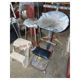 4 misc shop stools