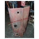 Metal hood for a tractor (make unknown)