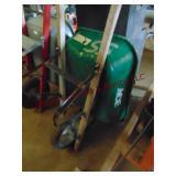 Ace metal wheel barrow w/ rubber tire & wood