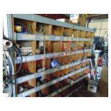 Wood 48 bin sorter bin WITH CONTENTS (MUST TAKE