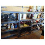 4 - 4 tier shelving units WITH CONTENTS (MUST TAKE