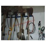 Group yard & garden tools (RACK NOT INCLUDED):