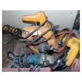 """3 pc elec tools: DeWalt drill, Makita 4 1/2"""""""