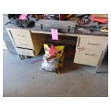Desk & 4 file drawers