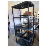 "Plastic Shevling Unit w/4 Shelves-24""x35""x81""H"