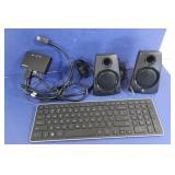 Logitech Computer Speaker & Dell Keyboard