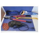 "Tool Lot-Hacksaw, Crowbar,Craftsman 6"" Sander&more"