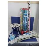 Iron Stool, Curtain Rods & Wrapping Paper