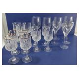Misc Glassware incl Lenox USA Crystal Wine Glasses