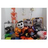 Halloween Lot-Boo Basket, Witches Hat, Lights&more