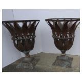 "2 Metal Plant Holders-14""Dx20""H"