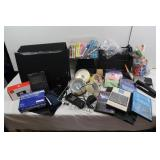 Office Lot-Carrying Case, Pens, Markers,Ruler&more
