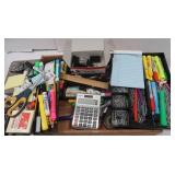 Office Lot-Pens, Markers, Paper clips & more