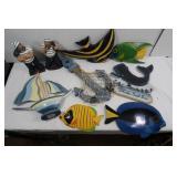 Wooden Items-Sailboat, Fish, Anchor & more