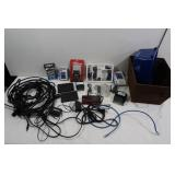 Power Cords, Earbuds, Mini Recoreder & Tapes