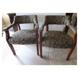 2 Paoli Fabric Chairs w/Arms-Black/Gold