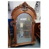"Antique Hand-carved Wood Mirror-32""Wx67""H"